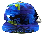 Blank Beach Snapback Hats Caps Wholesale - Cool Hawaii Blue