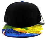 Blank Hawaii Snapback Hats Wholesale - Black | Beach Sunset