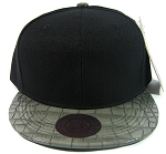 Blank Vintage Alligator Skin Snapback Hats Wholesale | Black Grey