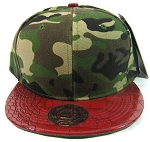 Blank Vintage Alligator Skin Snapback Hats Wholesale | Camouflage Burgundy
