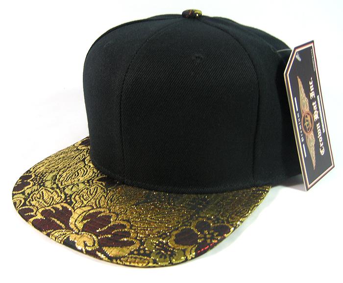e3fe84a2 Blank Vintage Floral Snapback Hats Wholesale - Gold & Burgundy