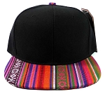 Wholesale Aztec Snapback Hats - Native American Pattern Brim