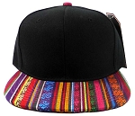 Wholesale Aztec Snapback Hat - Native American Pattern Brim Orange