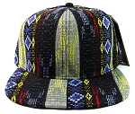 Wholesale Aztec Snapback Hats - Native American Pattern - Navy Diamond