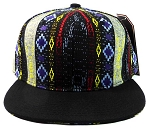 Wholesale Aztec Snapback Hats - Native American Pattern - Black Brim