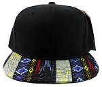 Wholesale Blank Aztec Snapback Caps - Native Pattern Brim