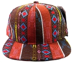 Wholesale Blank Aztec Snapbacks Cap - Native Pattern Brown