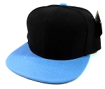 Kids Blank Snapback Hats Wholesale - Black | Sky Blue