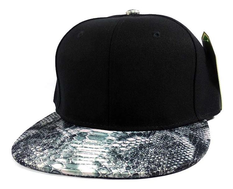 Wholesale Blank Snakeskin Snapback Hats - Snake Dark Gray 2 9685ea621a2
