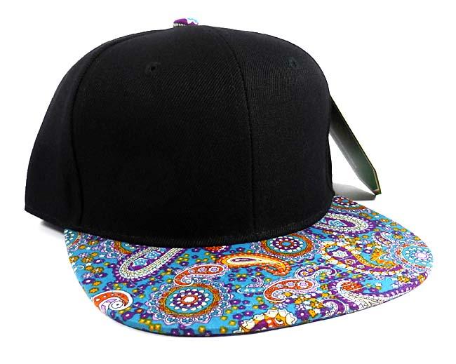 Wholesale Plain Paisley Snapback Hats Caps 17 c0e6d4c4a0d