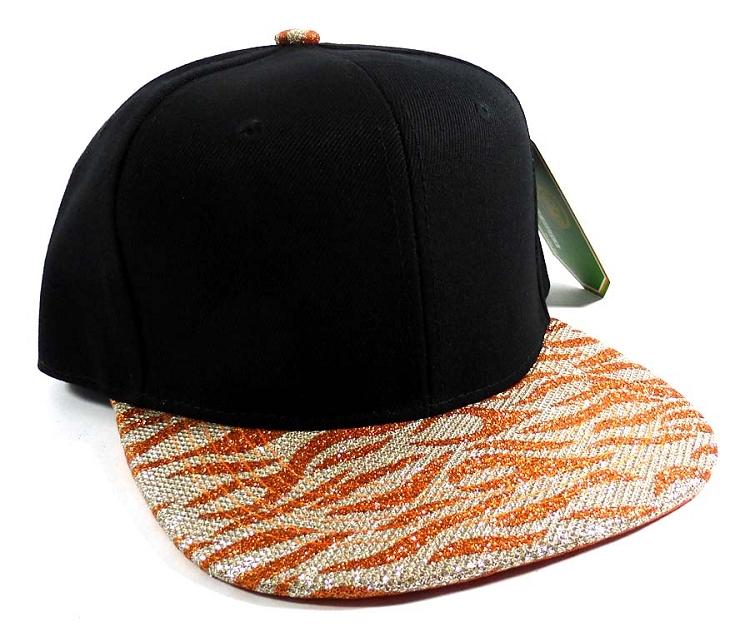 986296ea6ab Wholesale Blank Tigerstripe Snapback Caps - Black