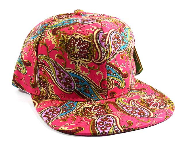 dba0c75464b Wholesale Women s Blank Paisley Snapback Hats Caps 6