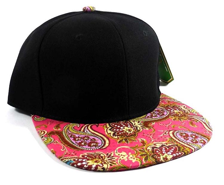 0e2deb4aed2 Wholesale Women s Blank Paisley Snapback Hats Caps 5