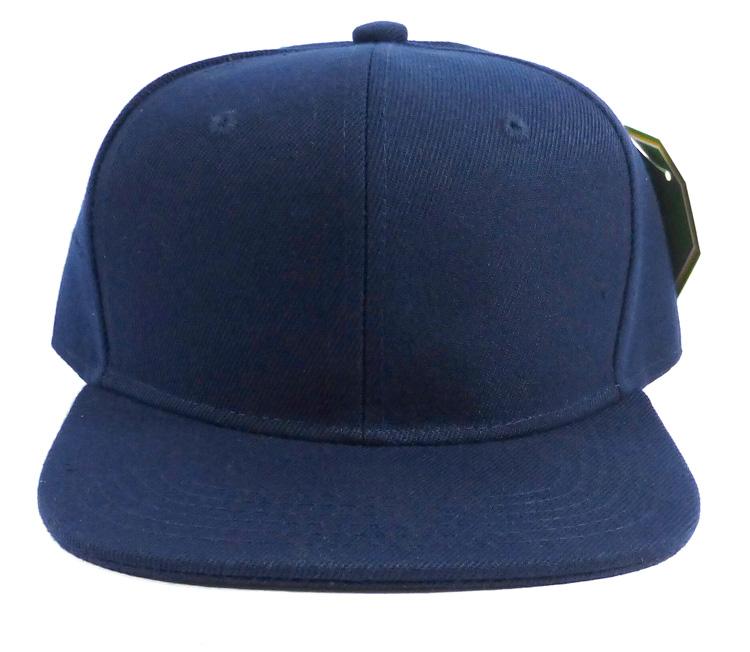 KIDS Blank Junior Snapback Hats Wholesale - Navy Blue Solid 2a36b409aff