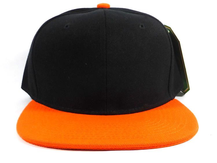 38c036f9372 Blank Snapback Hats Caps Wholesale - Black Orange