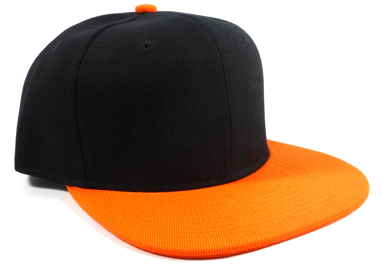 a09d5d053ad Blank Snapback Hats Caps Wholesale - Black Orange
