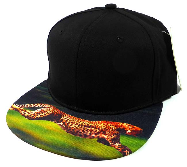 d671bccc63b 6-Panel Blank Strapback Hats Caps Wholesale - Cheetah