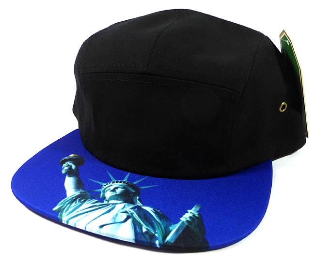 bf085ce7b92 STRAPBACK 5-Panel Blank Camp Hats Caps Wholesale - Statue of Liberty