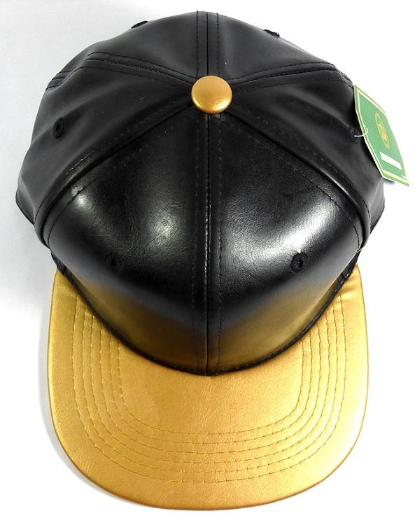 Faux Leather Blank Snapback Hats Wholesale - Black  95c3edf0433c