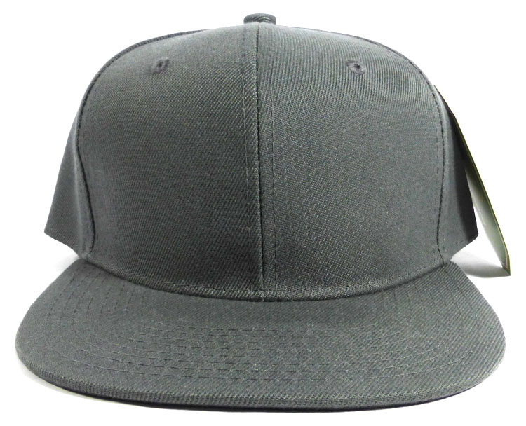 Blank Snapback Caps   Hats Wholesale - Dark Grey b6e440f7aef
