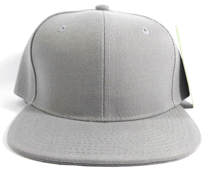Blank Snapback Caps   Hats Wholesale - L.Gray Solid 6bb0283c252