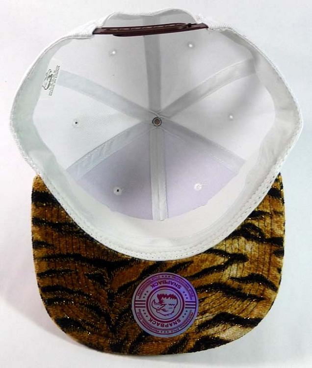 b698fb7b408 Blank Tiger Snapback Hats Caps Wholesale - White (24 pcs only)