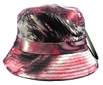 Wholesale Fashion Blank Bucket Hats - Marble Burgundy