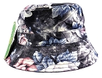 Wholesale Fashion Blank Bucket Hats - Roses | Black