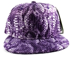 Wholesale Blank Snakeskin Snapback Hats - Snake Purple 3