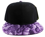 Wholesale Blank Snakeskin Snapback Hats - Snake Black Purple 2