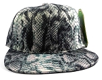Wholesale Blank Snakeskin Snapback Hats - Snake Dark Gray 3