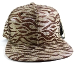 Wholesale Blank Tigerstripe Snapback Hats - Brown