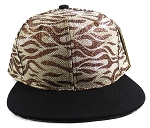 Wholesale Blank Tigerstripe Snapback Caps - Brown | Black (36 pcs left)
