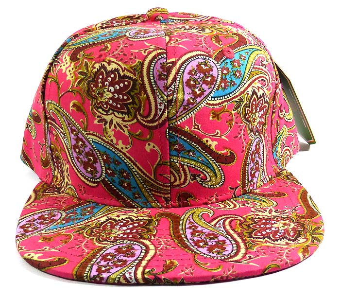 Home   ALL HATS   Wholesale Women s Blank Paisley Snapback Hats Caps 6 a74f3f57a1d