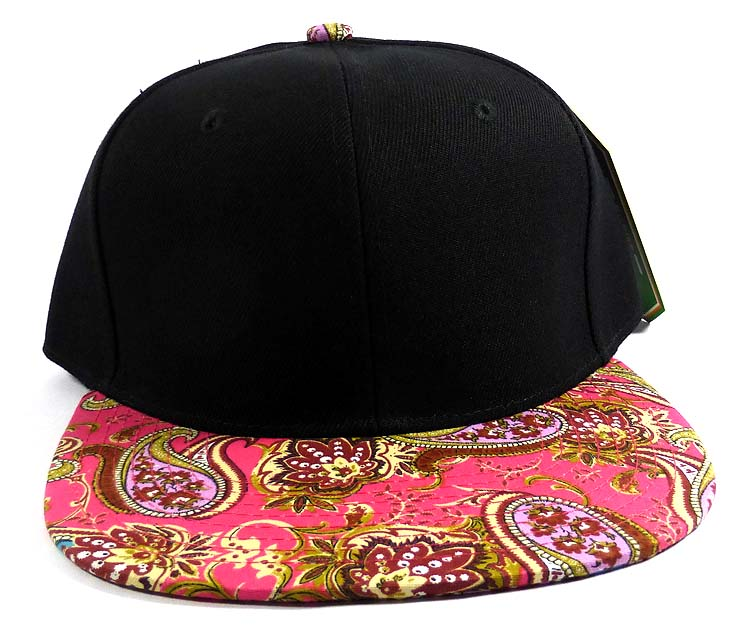 f1c633981aa Home   ALL HATS   Wholesale Women s Blank Paisley Snapback Hats Caps 5