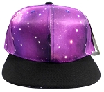 Wholesale Blank Snapback Hats - Galaxy Print | Purple 2