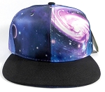 Wholesale Blank Snapback Hats - Galaxy Print | Black Brim