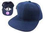 KIDS Blank Junior Snapback Hats Wholesale - Navy Blue Solid