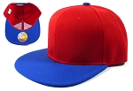 Blank Snapback Hats Caps Wholesale - Red | Royal Blue