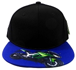 6-Panel Blank Strapback Hats Caps Wholesale - Motorcycle