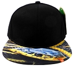 6-Panel Blank Strapback Hats Caps Wholesale - Snake