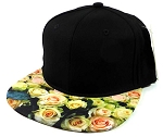 6-Panel Blank Strapback Hats Womens Caps Wholesale - Roses