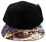 STRAPBACK 5-Panel Blank Camp Hats Caps Wholesale - Alligator Eyes
