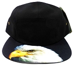 STRAPBACK 5-Panel Blank Camp Hats Caps Wholesale - Eagle