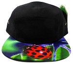 STRAPBACK 5-Panel Blank Camp Hats Caps Wholesale - Ladybug