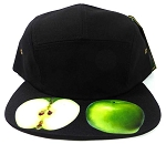 STRAPBACK 5-Panel Blank Camp Hats Caps Wholesale - Apple