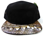 STRAPBACK 5-Panel Blank Camp Hats Caps Wholesale - Alligator Teeth