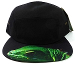 STRAPBACK 5-Panel Blank Camp Hats Caps Wholesale - Iguana