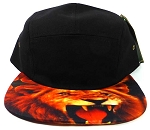STRAPBACK 5-Panel Blank Camp Hats Caps Wholesale - Lion
