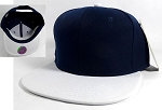 Wholesale Blank Snapback Hats Caps - Navy | White